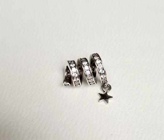 Charms cyrkoniowa spirala piękna srebro próba 925 do Pandora,Apart,Yes
