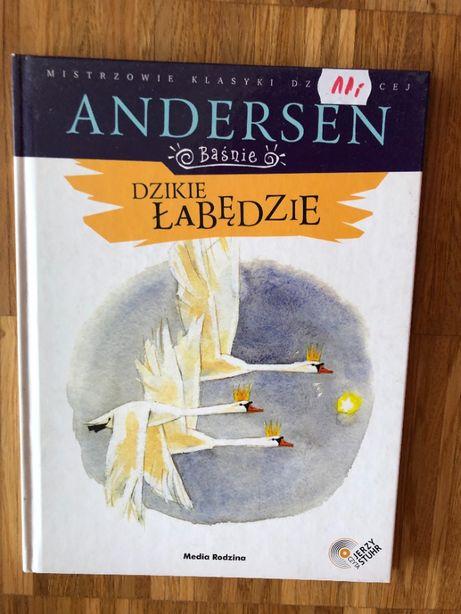 """Książka """"Dzikie łabędzie"""" Andersen + audiobook"""