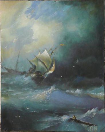 Копия картины Айвазовского, масло, холст 60х75