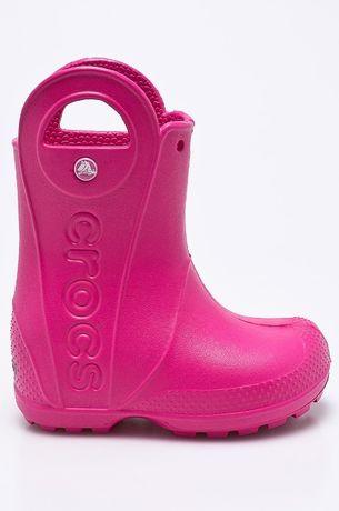 Детские сапоги Crocs J3 34р 35р розовые croslite