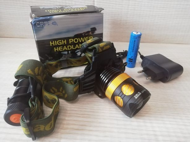 Налобный аккумуляторный фонарь фонарик Police Bailong BL-6813 20000W