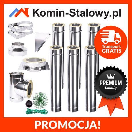 KOMIN Stalowy Izolowany Zewnętrzny Fi 180/240 6 m gr. 1 mm - Producent