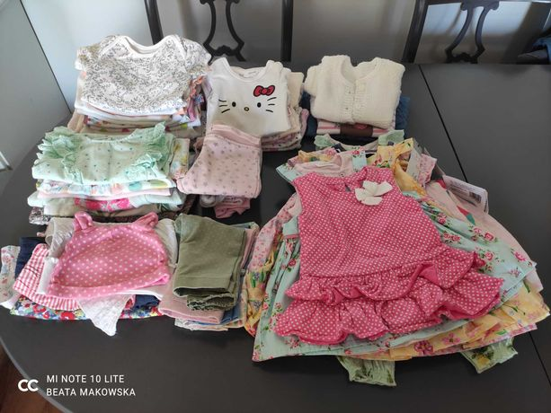 Wielka mega paka ubrań nowe i używane 56 62 68 dziewczynka