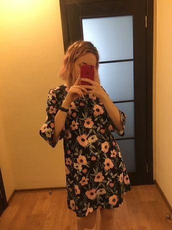 Летнее Платье OSTIN в цветочный принт прямого кроя