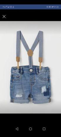 Spodenki jeansowe rozmiar 80 H&M