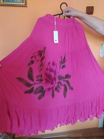 Спідниця рожева, шифонова, нова