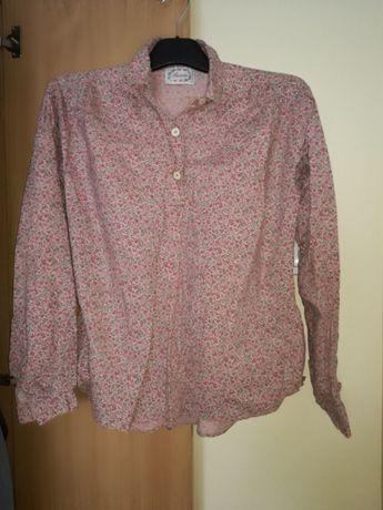 Śliczna damska bluzka koszulowa w kwiaty floral 40 L