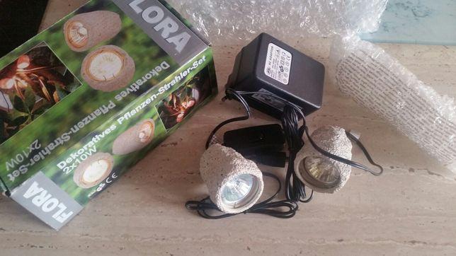 Lampy dekoracyjne 12Volt+trafo+włącznik.super do oświetl.terarium.drze