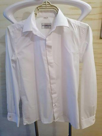 Koszula chłopięca biała komunijna rozmiar 152, kołnierzyk 33