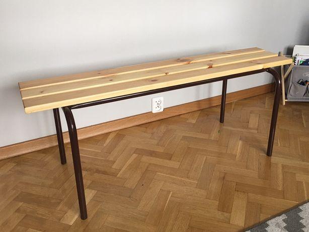 Nowa drewniana ławeczka/ławka ogrodowa