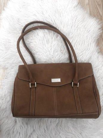 Брендовая сумка fiorelli оригинал италия на лето коричневая рыжая