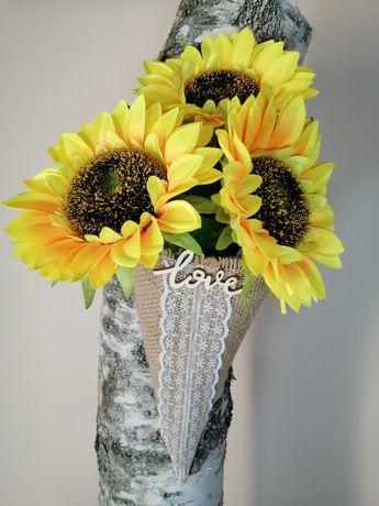 Rożek na kwiaty dekoracja ślubu do kościoła na ławkijuta