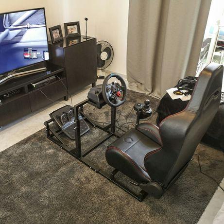 Cockpit Playseat estrutura para simulador corrida/voo