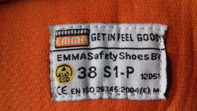 NOWE skórzane buty damskie robocze EMMA holenderskie ochronne ESD