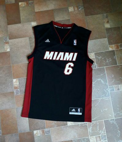 Баскетбольная майка/ джерси Miami Heat James NBA Champion Adidas