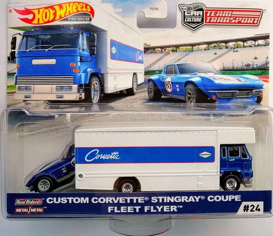 Hot wheels Premium Team Transport Custom Corvette Stingray Fleet Flyer