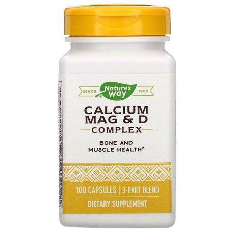 Nature's Way, Calcium Mag & D Complex, Кальций Магний D3 комплекс 100