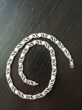 Srebrny naszyjnik/lancuszek nietypowy splot