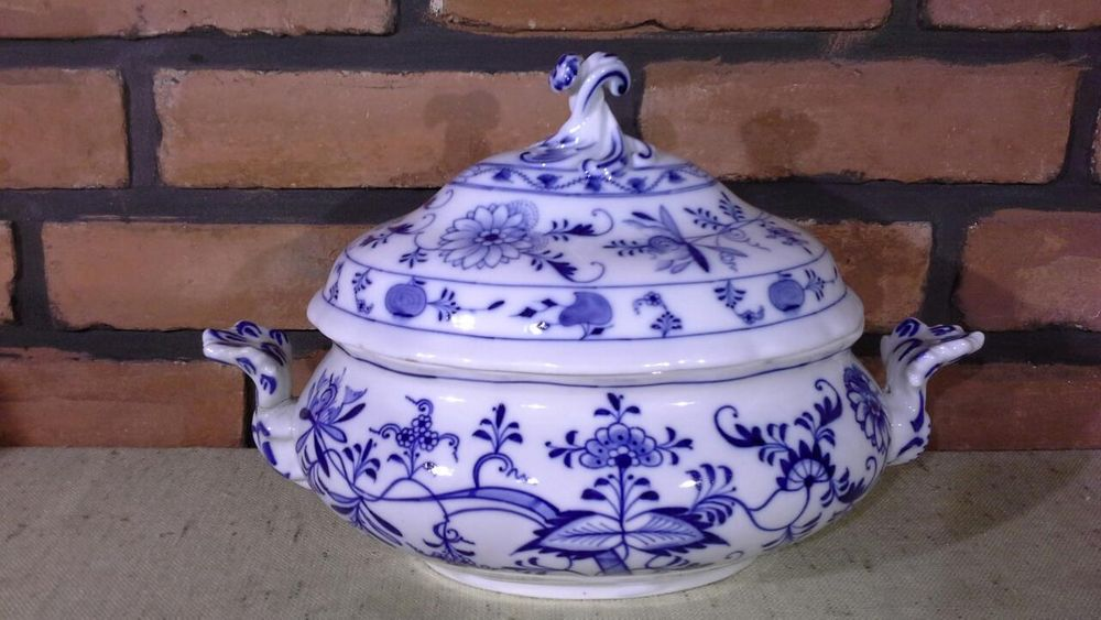 Waza MEISSEN TEICHERT,Porcelana Miśnia,Wzór Cebulowy ZWIEBELMUSTER 3 l Jelenia Góra - image 1
