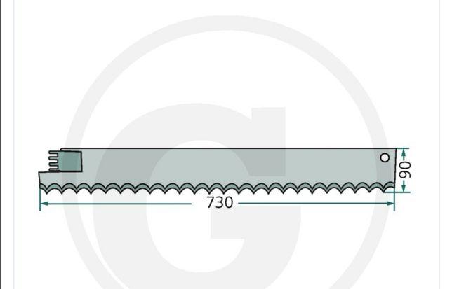 Nóż tnący wycinaka van Lengerich prawy 60935, 51220 Modele 110/170H
