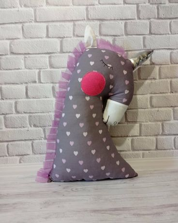 Единорог игрушка подушка