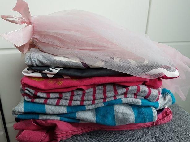 Zestaw 7 szt HM Lindex spodenki bluzka koszulka Tup Tup Smyk Zara