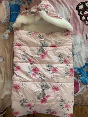 Конверт Демисезонный кокон одеяло на выписку Chicco+ подарок!