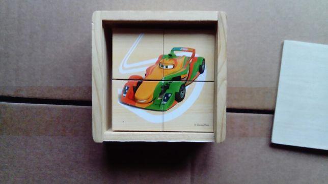 Puzzle drewniane klocki 24 elementy