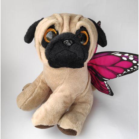 Мягкая игрушка мопс pugs and kisses пёс собака бабочка