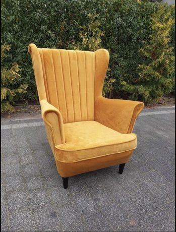 Fotel USZAK stylowy salon wybór tkanin
