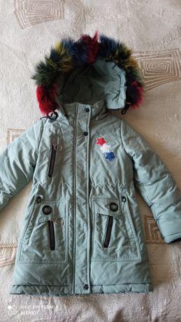 Куртка зимняя на девочку (116)