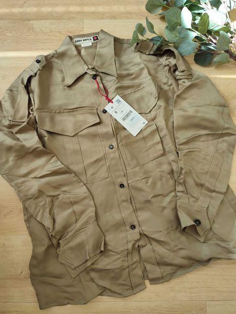 Zara SRPLS koszula khaki S nowa