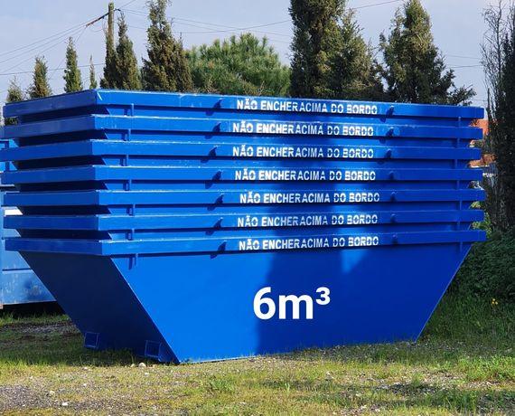 CONTENTORES para todo o tipo de entulho de obras 6m³ e resíduos 40m³