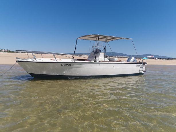 Barco recreio 8m, motor 150cv. Lotação 12