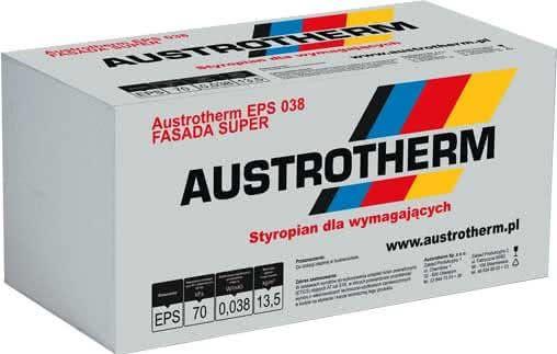 Styropian Austrotherm Fasada super EPS 038 , cena 279,00 brutto m3
