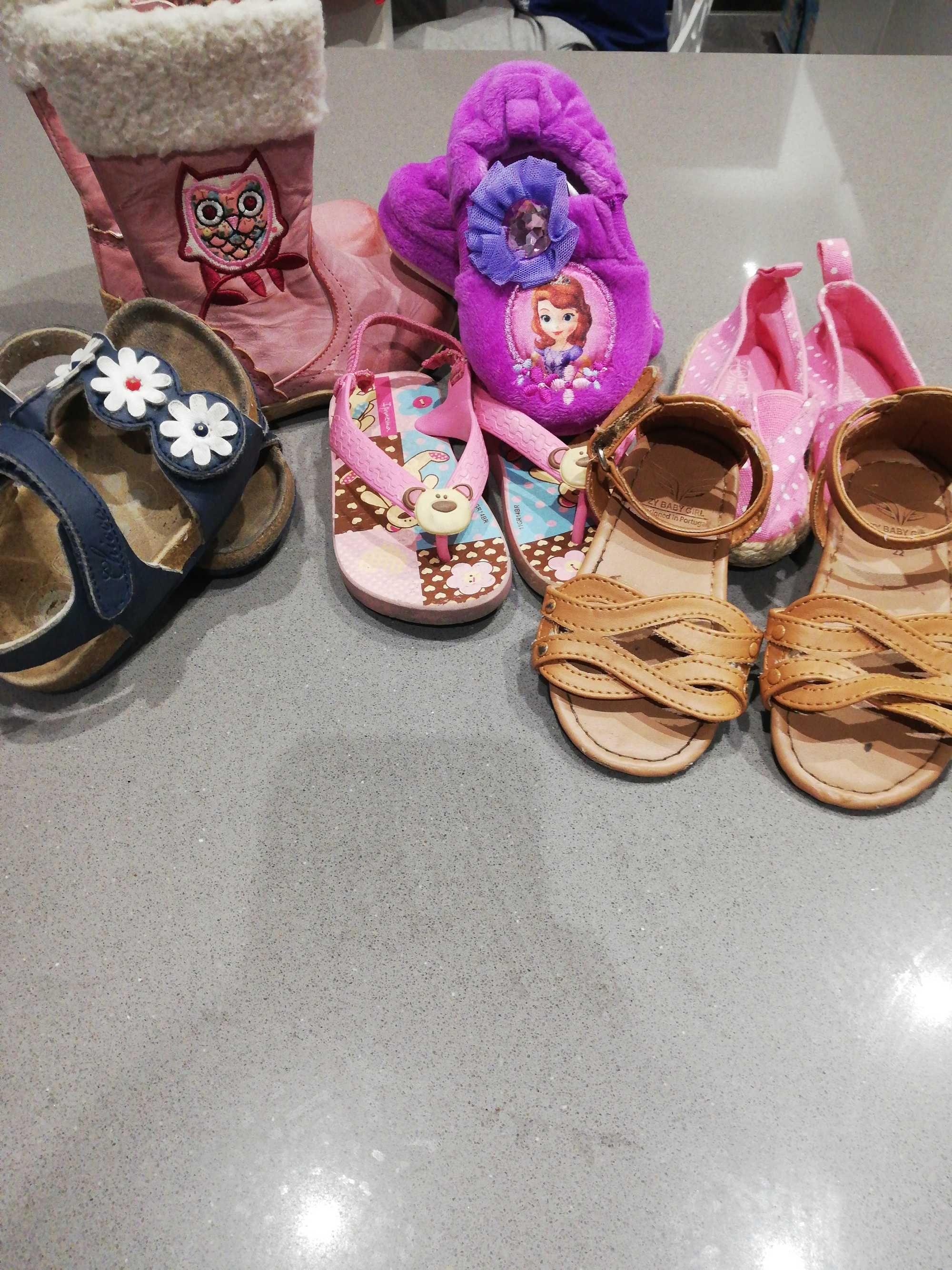 Lote sapatos menina n°22