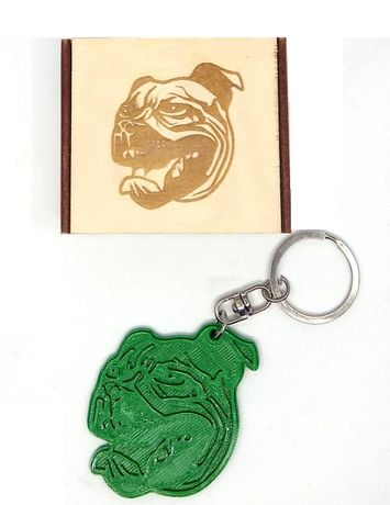 Brelok 3D pies pitbul zawieszka +drewniane pudełko