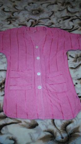Продам женский розовый махровый халат