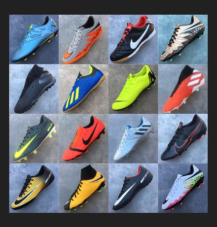 Оригінальні бутси Adidas Nike 37/38/39/40/41/42/43/44/45/4647 футзалки