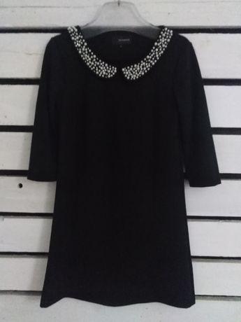 Suknia czarna M Reserved perełki elegancka
