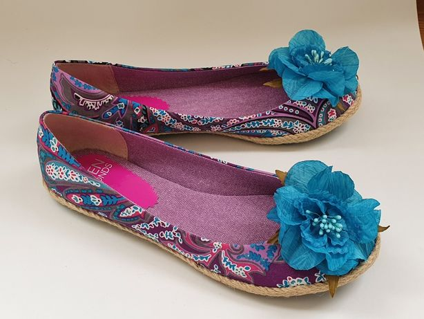 Туфли балетки текстиль