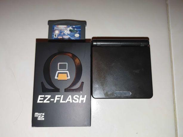 Gameboy Advance SP, Omega EZ FLASH, gra, akcesoria. GBA SP