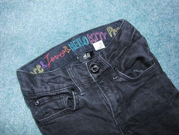 Spodnie  jeansowe czarne H&M Hello Kitty r.116