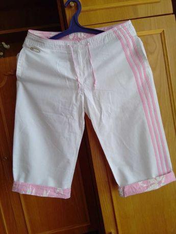 Бриджи новые белые летние штаны Adidas размер М или 14 британ.