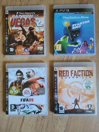 Zestaw 4 gier Playstation 3 PS3 Fifa Vegas 2 Red Faction Move