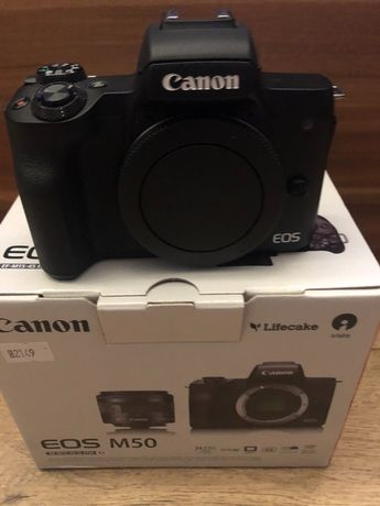 Zestaw Canon M50 + adapter, obkiektyw Canon(10-18mm), mikrofon RODE