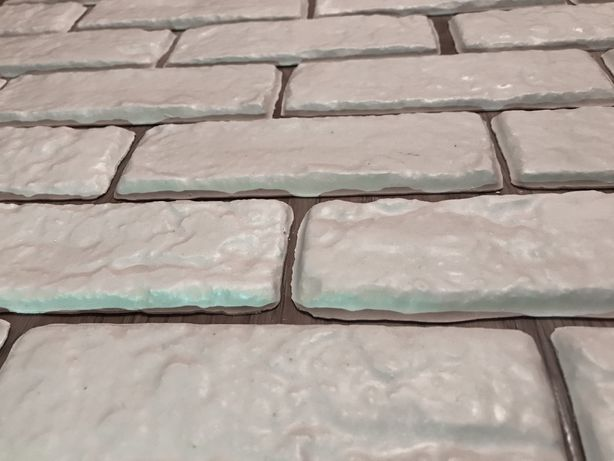 Декоративная гипсовая плитка формы Монтана (белая)