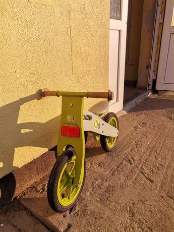 Kinderkraft Runner Rowerek Biegowy Drewniany Green