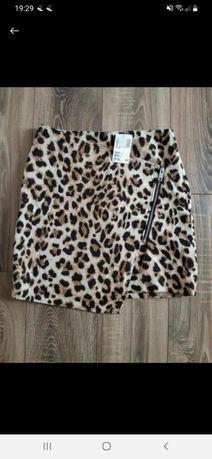 Юбка теплая H&M леопард