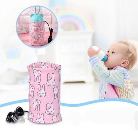 Podgrzewacz przenośny USB do butelek mleka, wody
